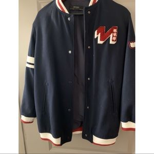 Navy Blue Varsity Jacket